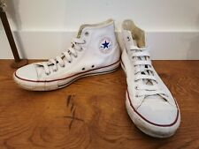 Converse White Leather Chuck Taylor Hi Tops Size 9