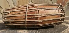 More details for a r dawood rare vintage hand made indian wooden dholak dholki retro instrument