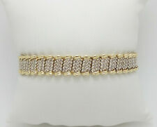 Zales 6CT Diamond Tennis Bracelet Bangle in 10K Yellow Gold
