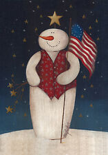 "Toland Christmas Flag Waving Snowman Small Garden Flag 12.5"" x 18"" - 117352"