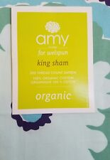 NEW AMY BUTLER DREAM DAISY BLUE AQUA KING PILLOW SHAM