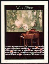 1927 WURLITZER Small Grand Piano Clavichorde Antique AD PRINT ADVERTISING