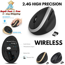 Wireless Vertical Mouse 2.4G High Precision Jelly Comb Optical Mice Small Hands