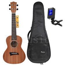 Solid Mahogany Top Concert Ukulele 23 inch Hawaii Guitar Rosewood Bridge Matt