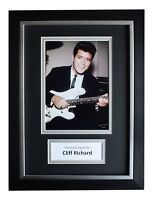 Cliff Richard Signed A4 FRAMED Autograph Photo Display Music AFTAL COA