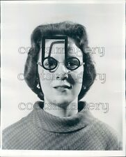 1958 Woman Models Music Notation Glasses Spectacles Press Photo