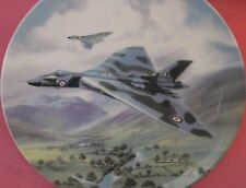 WEDGWOOD THUNDER IN THE HILLS PLATE THE DAWN OF THE JET AGE BOXED WILFRED HARDY