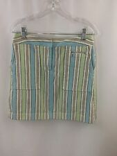 ANN TAYLOR LOFT SKIRT COLOR PIN STRIPED SOFT STRETCH SIZE 6 STRAIGHT FRONT OPEN