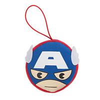 Marvel Kawaii Art Collection Captain America Face Plush Keychain