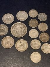 More details for joblot of edward vii silver coins inc a 1909 half crown. 65.3g .925 silver