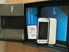 White Nokia N97 Mini mobile Phone With 2 GB Memory Card in The Nokia Box