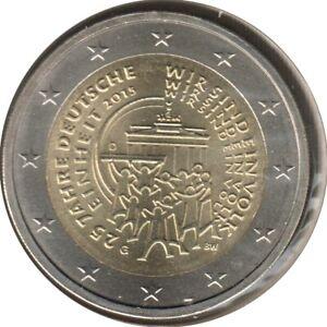 AL20015.2G - ALLEMAGNE - 2 euros commémo. Réunification allemande - 2015 G