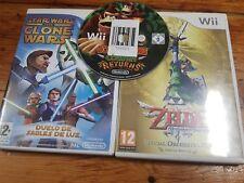 Nintendo Wii lote Donkey Kong Country Returns Legend of Zelda skywar sword Star