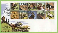 G.B. 2005 Farm Animals set on u/a Royal Mail First Day Cover, Paddock Huddersfie