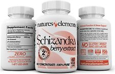 Schizandra Berry Extract | PACK OF 3 | Vegetarian Capsules | Extra Strength