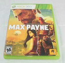 Max Payne 3 Microsoft Xbox 360, 2012 GAME COMPLETE ROCKSTAR GAMES RATED M