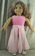 """Doll Clothes Made Fit American Girl 18"""" inch Ice Skate Leotard Skirt Pink White"""