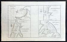1773 Cook Antique Maps Tahiti, Raiatea & Huaheine Isles French Polynesia in 1769