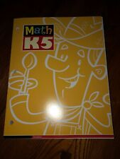 Bob Jones BJU Math K5 WORKTEXT WORKBOOK 3rdEd NEW UNUSED Homeschool Kindergarten