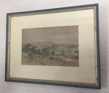 Antique Watercolour Landscape Painting ~ Old Craigend Scotland