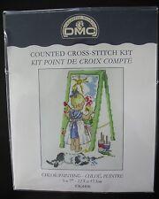 Chloe Painting Cross Stitch Kit K4406 DMC Little Girl Easel 5x7 England Sealed