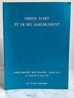 Catalogue Di Vendita Articolo Arte E Di Bel Tappezzeria Sala N°4 18 Mars 1977