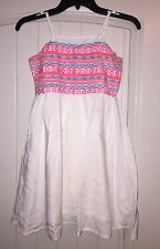 Ruum American Kids Wear Girl's White Embroidered Dress Size 10 - NWT