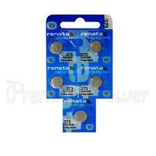5 x Renata 373 Silver oxide batteries 1.55V SR916SW Watch SR68 0% Mercury