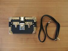 BRAND NEW Trunk Crossbody Bag (with Straps) High Quality! Black, Gold, and Red