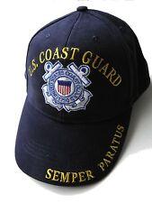 USCG US COAST GUARD USA SEMPER PARATUS EMBROIDERED BASEBALL CAP HAT