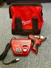 """MILWAUKEE 1/4""""HEX IMPACT DRIVER, CHARGER AND BAG NO BATTERY #2"""
