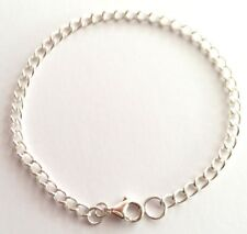 Bracelet Sterling Silver 925 Classic Design Chain For Charms Or Without