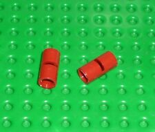 LEGO-TECHNIC-pin conector redondo con ranura Rojo Oscuro X 2 (62462) TK1467
