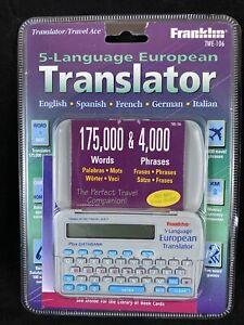 Franklin 5 Language Translator TWE-106 German French Italian Spanish D11