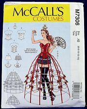 McCalls Hoop Skirt Corset Halloween Costume Sewing Pattern 6,8,10,12,14 7306