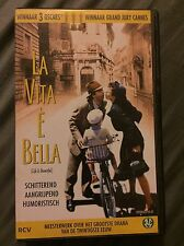 Life Is Beautiful Vhs Pal Very Rare La Vita E Bella Roberto Benigni Oscar Cannes