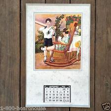 Vintage Original A REAL TREAT MILK BOTTLE Grocery Store 1937 Full Pad Calendar