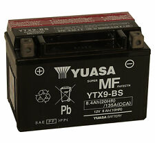 Genuine Yuasa YTX9-BS Motorbike Motorcycle Battery Inc Filling Kit