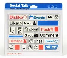 Social Talk Fridge Magnets Novelty Magnetic Twitter Facebook Emoticon Like Tweet