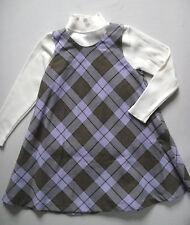 NWT Lili Gaufrette Island Child Lavender Plaid Sleeveless Dress Jumper Size 8
