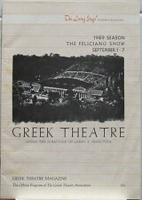 JOSE FELICIANO Greek Theater LA 1969 Concert Program