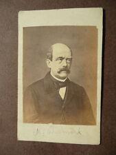 Fotografia Antica Originale Carte de Visite Ritratto M. Bismark 1880 circa