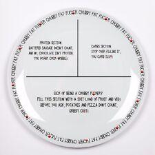 World Slimming Novelty Fat F*cker Portion Control Weight Loss Diet Plate Watcher