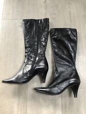 Office Shoes Womens Black Knee High Boots UK 6 EU 39