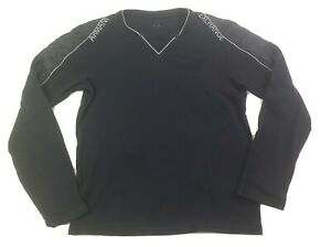 Armani Exchange AX Mens Long Sleeve Shirt Size Small Black Pullover