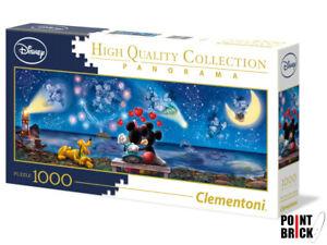 CLEMENTONI 39449 Mickey & Minnie - 1000 pezzi - Panorama Puzzle