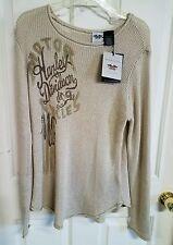 NWT Harley Davidson women's loose knit sweater, size L, #77
