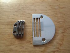 NEW FEED DOG AND THROAT PLATE TO SUIT INDUSTRIAL JUKI MODEL DLN-415 HEAVY