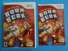 NO GAME- NINTENDO WII BOOM BLOX - CASE & MANUAL ONLY - NO GAME DISC