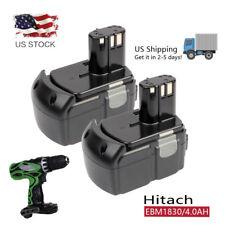 2pcs 18V 4000mAh Li-Ion Battery for HITACHI BCL1815 EBM1830 WR18DL RB18DL UB18DL